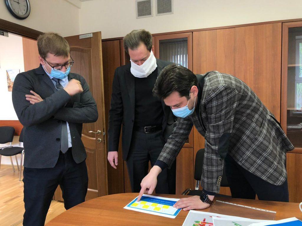 Рабочий визит директора ФНКЦ РР в COVID-госпиталь на базе Больницы РАН (г. Троицк)